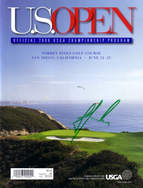 Trevor Immelman autographed 2008 U.S. Open program