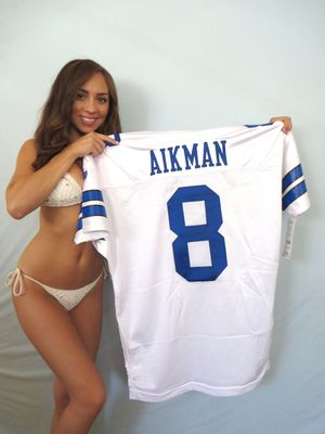 Troy Aikman Dallas Cowboys 1994 authentic Wilson Pro Line stitched white game model throwback jersey NEW WITH TAGS