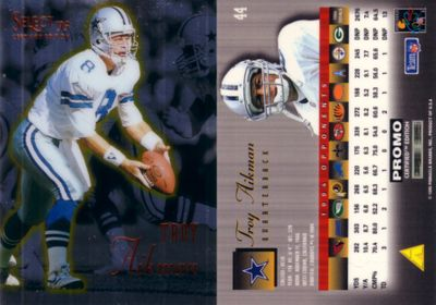 Troy Aikman 1995 Select Certified promo card