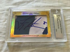 Troy Aikman 2016 Leaf Masterpiece Cut Signature certified autograph card 1/1 JSA
