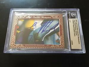 Troy Aikman and Jimmy Johnson 2012 Leaf Masterpiece Cut Signature certified autograph card 1/1 JSA