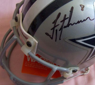 Troy Aikman autographed Dallas Cowboys authentic mini helmet (UDA)