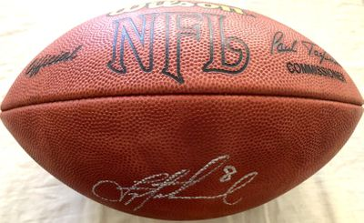 Troy Aikman autographed Wilson NFL leather game model football (JSA)