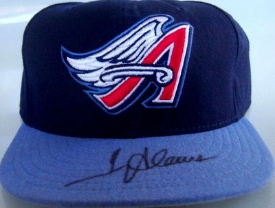 Troy Glaus autographed Anaheim Angels authentic game model cap or hat (Fleer authenticated)