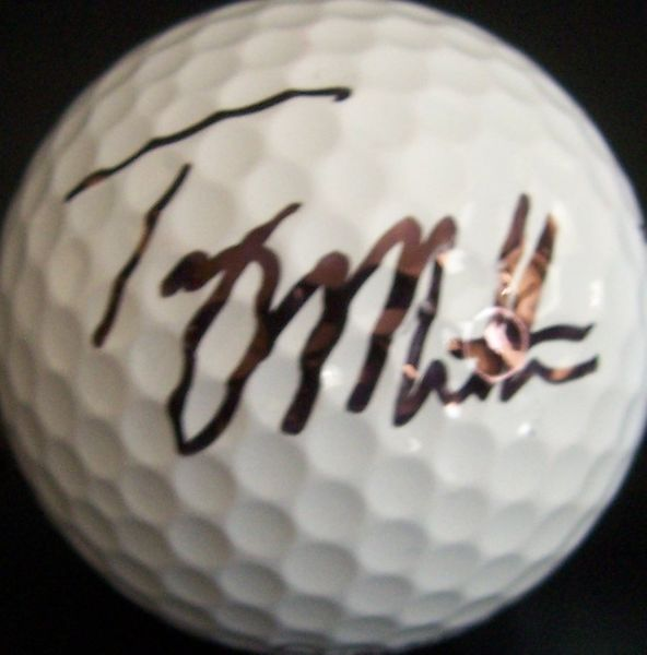 Troy Matteson autographed 2011 Farmers Insurance Open tournament used Titleist golf ball
