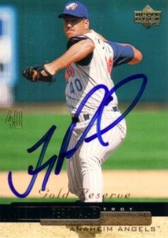 Troy Percival autographed Angels 2000 Upper Deck card
