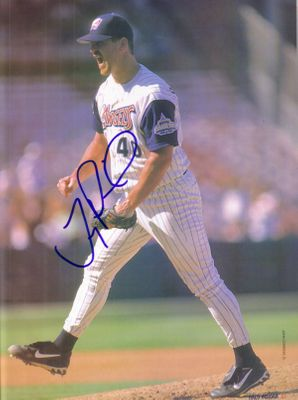 Troy Percival autographed Angels full page magazine photo