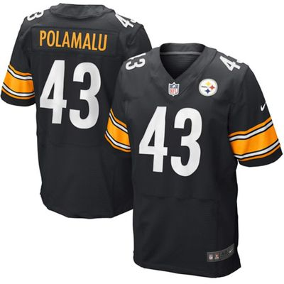 Troy Polamalu Pittsburgh Steelers authentic Nike Elite stitched black jersey NEW WITH TAGS