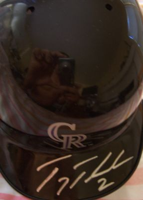 Troy Tulowitzki autographed Colorado Rockies mini batting helmet