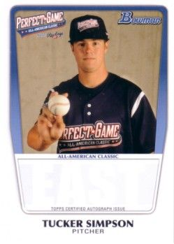 Tucker Simpson 2011 Perfect Game Topps Bowman Rookie Card (AFLAC)