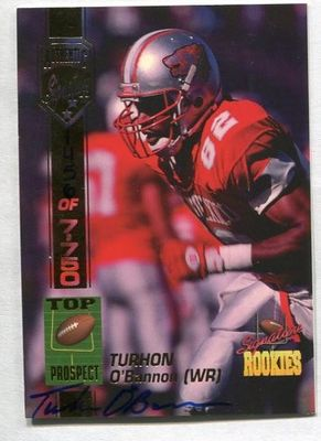 Turhon O'Bannon New Mexico certified autograph 1994 Signature Rookies card