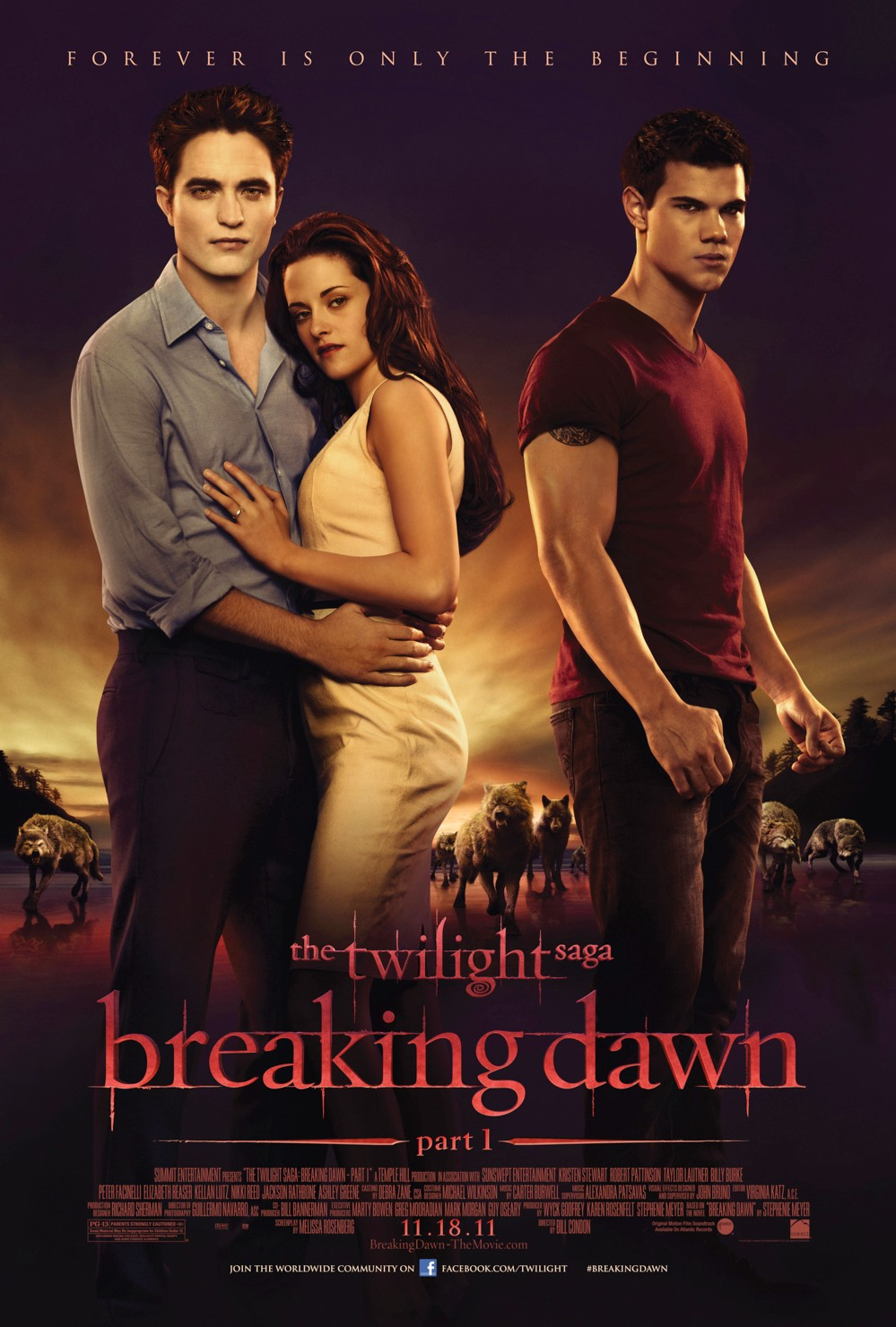 TWILIGHT NEW MOON Poster Male Cast Members in Woods New
