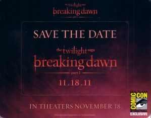 Twilight Breaking Dawn movie 2011 Comic-Con promo fridge magnet set