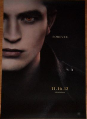 Twilight Breaking Dawn Part 2 2012 Comic-Con Edward mini 11x17 movie poster