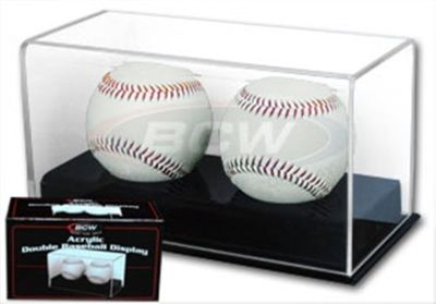 Two baseball acrylic display case