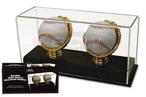 Two baseball gold glove acrylic display case