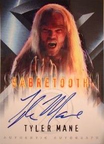 Tyler Mane certified autograph X-Men Sabretooth Topps movie card
