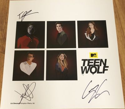 Tyler Posey Dylan Sprayberry Cody Christian autographed Teen Wolf 2015 Comic-Con lithograph or poster