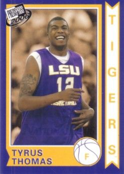 Tyrus Thomas 2006 Press Pass National Convention promo card