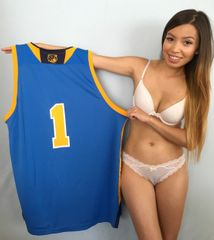Moses Brown UCLA Bruins authentic Adidas basketball blue replica #1 jersey with National Champions collar NEW WITH TAGS