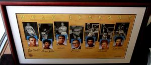 UCLA Legends autographed lithograph matted & framed (Kareem Abdul-Jabbar Bill Walton John Wooden)