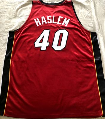 Udonis Haslem Miami Heat 2006 NBA Finals authentic Adidas red stitched game model jersey