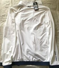 Under Armour Golf Heat Gear white full zipper XL jacket BRAND NEW WITH TAGS