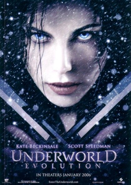 Underworld Evolution movie promo postcard (Kate Beckinsale)