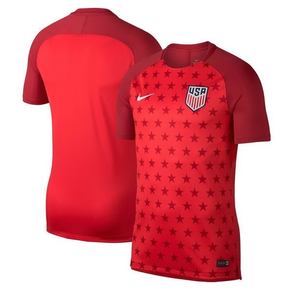 U.S. Soccer 2019 National Team authentic Nike Dri-Fit red pre-match jersey BRAND NEW WITH TAGS