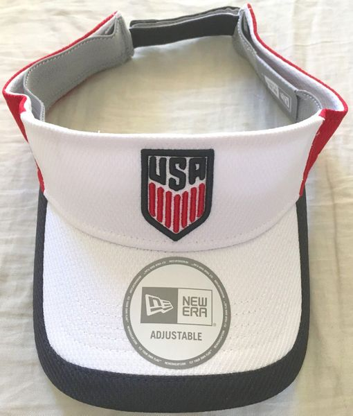 U.S. Soccer logo New Era embroidered red white and blue unisex visor NEW
