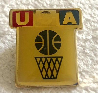 USA Basketball vintage gold lapel pin
