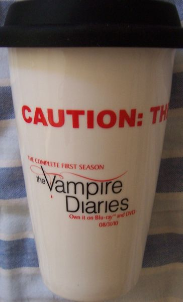 Vampire Diaries 2010 Comic-Con promo Terra thermal travel 11 ounce coffee cup NEW IN BOX