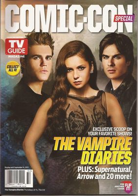 Vampire Diaries & The Originals 2013 Comic-Con TV Guide magazine with Beware the Batman poster