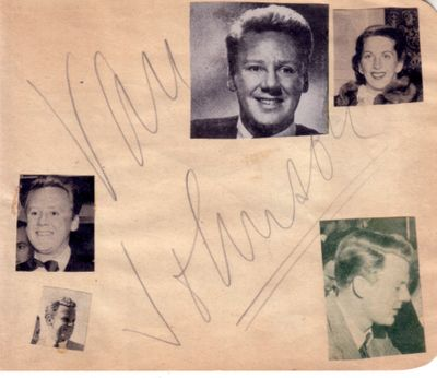 Van Johnson & Otto Kruger autographed autograph album or book page