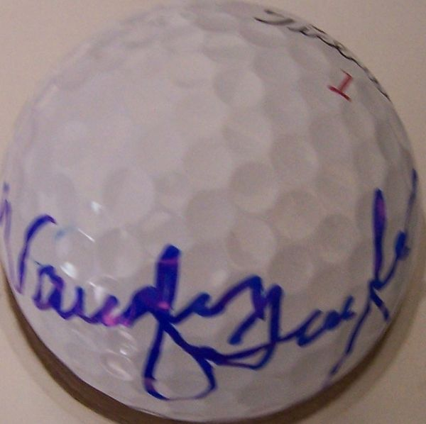 Vaughn Taylor autographed 2012 Farmers Insurance Open tournament used Titleist golf ball