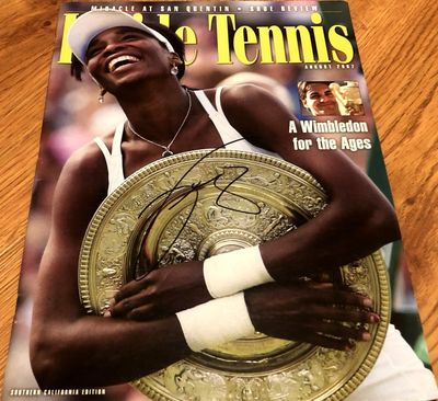 Venus Williams autographed 2007 Inside Tennis magazine
