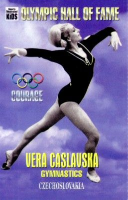 Vera Caslavska Olympic Hall of Fame 1995 Sports Illustrated for Kids card