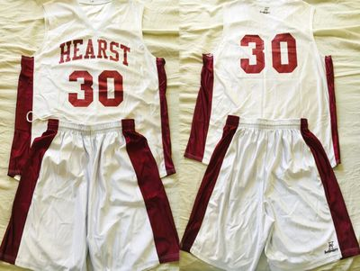 Veronica Mars TV series show worn Hearst basketball jersey and shorts set