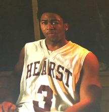 Percy Daggs III autographed Veronica Mars TV show issued Hearst College basketball jersey