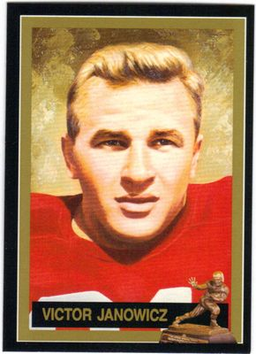 Vic Janowicz Ohio State Buckeyes 1950 Heisman Trophy winner card