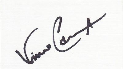 Vince Coleman autographed blank back of business card