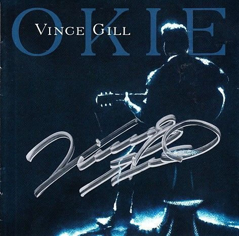 Vince Gill autographed OKIE 2019 CD booklet
