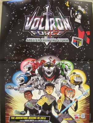 Voltron Force 2011 Comic-Con promo 16x21 poster MINT