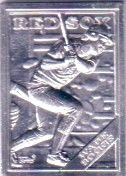 Wade Boggs 1988 Topps Gallery of Champions mini aluminum card