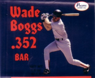 Wade Boggs 1990 chocolate bar wrapper