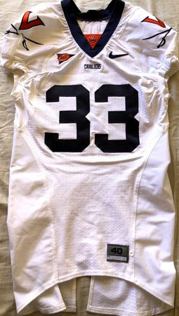 Wali Lundy Virginia Cavaliers TEAM ISSUED authentic Nike stitched white game model jersey
