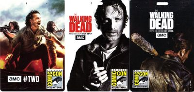Set of 3 Walking Dead San Diego Comic-Con 2016 2017 and 2018 plastic badges