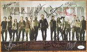 Walking Dead cast autographed 2014 Comic-Con photo card Andrew Lincoln Norman Reedus Lauren Cohan Danai Gurira Melissa McBride JSA