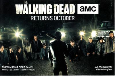 Walking Dead & Fear the Walking Dead 2016 Comic-Con 4x6 promo card