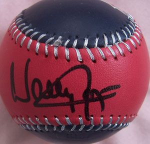 Wally Joyner autographed Angels baseball